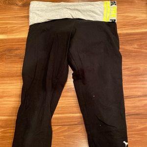 Fold over Capri leggings